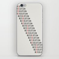revolution iPhone & iPod Skins featuring Revolution by Skye Zambrana