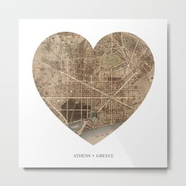 Barcelona heart map Metal Print