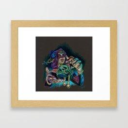 Lady Muerte Framed Art Print