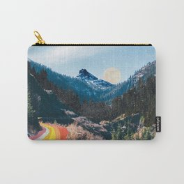 1960's Style Mountain Collage Tasche