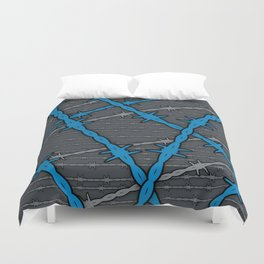 Barbed ELECTRIC BLUE Duvet Cover