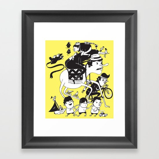 Race Against Time Framed Art Print