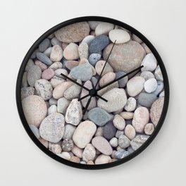 Beach Stones Pillow Wall Clock