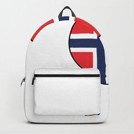 Spruch Ich muss gar nix Ich muss nur nach Norwegen Backpack
