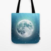 luna Tote Bags featuring Luna by Good Sense