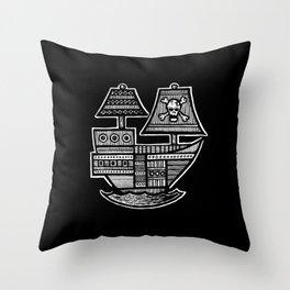 Pirate Ship - Hollow Soul Throw Pillow