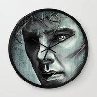 benedict cumberbatch Wall Clocks featuring Benedict Cumberbatch by Schwebewesen • Romina Lutz