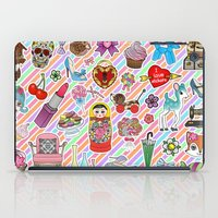 stickers iPad Cases featuring I Love Stickers by Jade Boylan