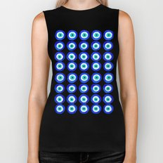 Evil Eye Talisman - on white Biker Tank