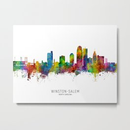 Winston-Salem North Carolina Skyline Metal Print