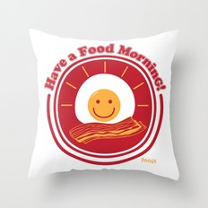 Food Morning! Throw Pillow