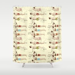 Old Fashioned Swimming Lessons Shower Curtain