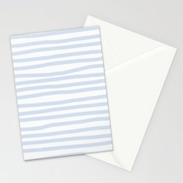 Light Blue Stripes Horizontal Stationery Cards