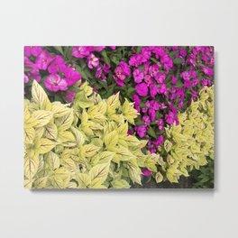 Flower Bed in Butchart's Garden Metal Print
