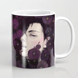 Black Magic Hollyhocks Coffee Mug