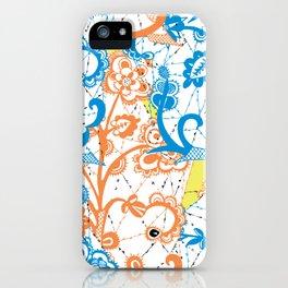 Cobwebbed Flower Lace Pattern iPhone Case