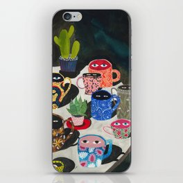 Suspicious mugs iPhone Skin