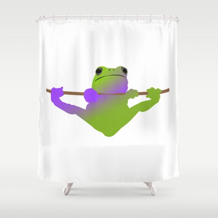 The Hanging Frog Shower Curtain By Thomasmorton9