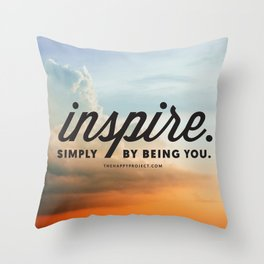 Inspire Simply Be Being You Throw Pillow