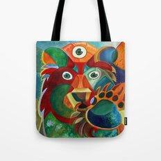 Three Eyed Bear Tote Bag