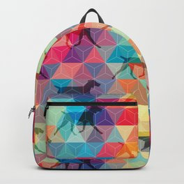 WEIMARANER AND TRIANGLES Backpack