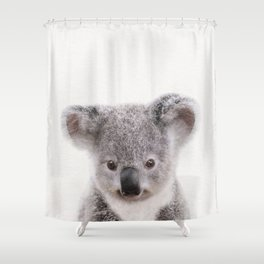 Baby Koala, Baby Animals Art Print By Synplus Shower Curtain