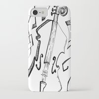 cello iPhone & iPod Cases featuring Dancing Cello by Ashley Grebe