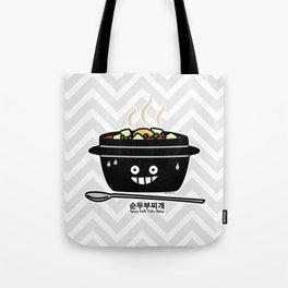 Korean Spicy soft Tofu Stew soup Sundubu jjigae hot Tote Bag