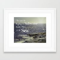 the cure Framed Art Prints featuring Saltwater Cure by ShadeTree Photography