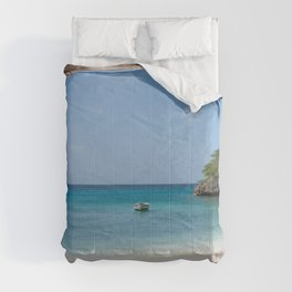 Blue Lagoon Beach Dream #1 #wall #decor #art #society6 Comforters