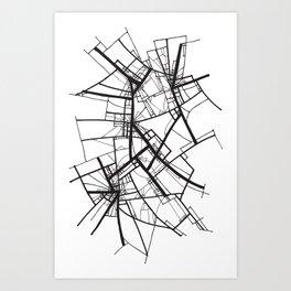 Suspension (Fractal Scaffold series #2) Art Print