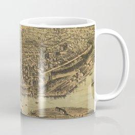 Vintage Pictorial Map of Tacoma WA (1890) Coffee Mug