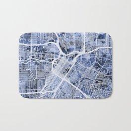Houston Texas City Street Map Bath Mat