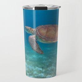 Turtle cove green turtle Travel Mug