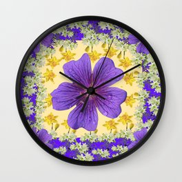 PANTENE ULTRA VIOLET PURPLE FLOWERS ART DESIGN Wall Clock