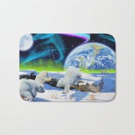 Joyful - Polar Bear Cubs and Planet Earth Bath Mat