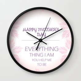 Mothers Day Flowers Wall Clock