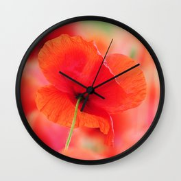 #poppies #square #mural Mural in #Close up Wall Clock