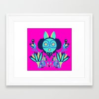 deco Framed Art Prints featuring Mono Deco by Ashley Hay