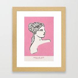 Venus de Milo statue Framed Art Print