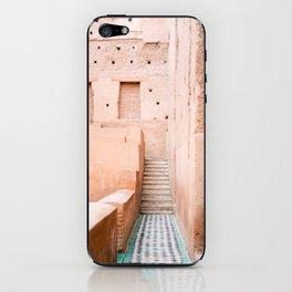 Colors of Marrakech Morocco - El badi palace photo print | Pastel travel photography art iPhone Skin