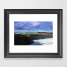 Our land is girt by Sea Framed Art Print
