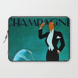Vintage Champagne Veuve A. Devaux, Paris, France Jazz Age Roaring Twenties Advertisement Poster Laptop Sleeve