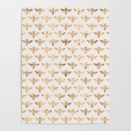 Honey Bees (Sand) Poster
