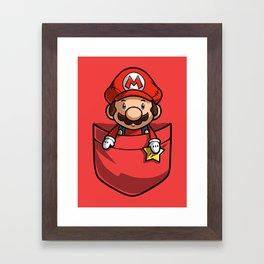 Pocket Mario Super Mario T-Shirt Framed Art Print