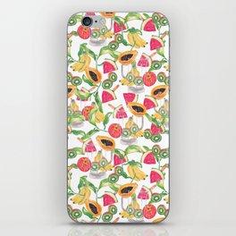 Tropical fruits iPhone Skin