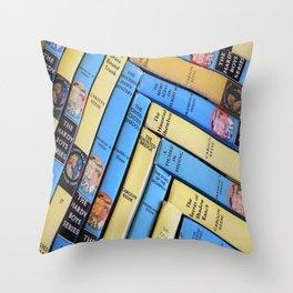 Nancy Drew & Hardy Boy Book Weave Throw Pillow