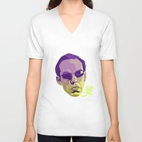 melissa smith V-neck T-shirts featuring AGENT SMITH by Mike Wrobel