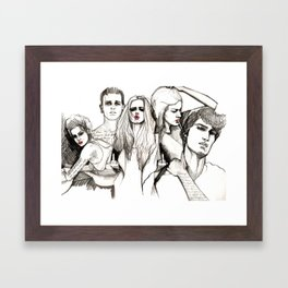 Bad crowd Framed Art Print