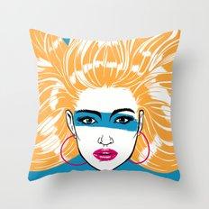 Summer Blonde '82 Throw Pillow